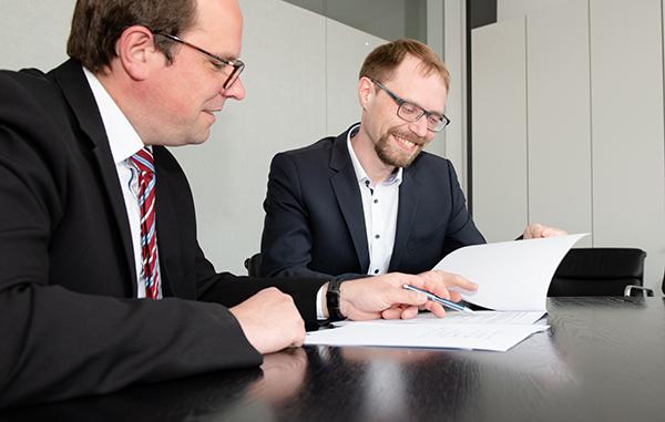 Patentanwalt Rosentreter und Mandant